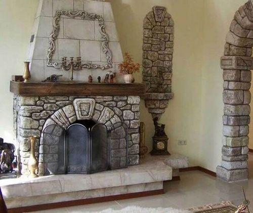 Облицовка камина: отделка натуральным камнем, керамической плиткой, чем отделать, как облагородить камин, портал, как обложить, обшивка