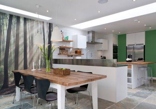 Обои для кухни: фото, видео и идеи дизайна в 2018 году