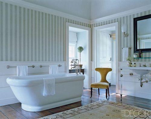 Обои для ванной комнаты: фото и обзор моющих и влагостойких отделочных материалов