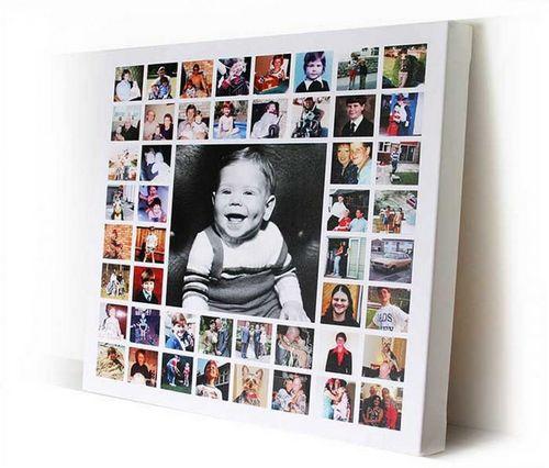 Оформление стены фотографиями: фото примеров, сочетания
