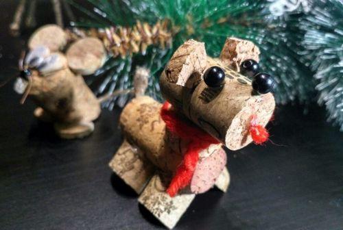 Оригинальные идеи новогодних игрушек к году собаки