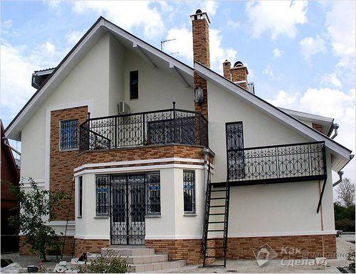 Отделка фасада дома своими руками - чем и как отделать   фото