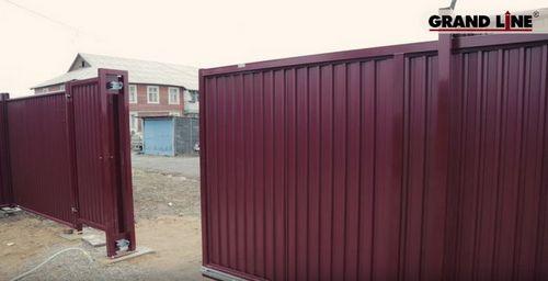 Откатные ворота своими руками: фото, схема, чертежи, видео