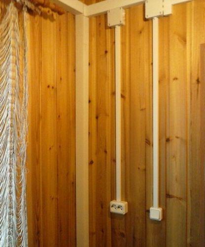 Открытая наружная и внутренняя электропроводка