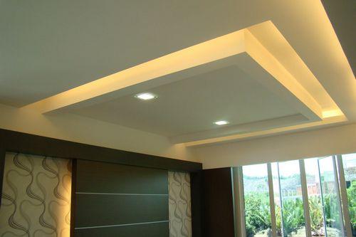 Парящий потолок из гипсокартона с подсветкой подшивной своими руками и фото