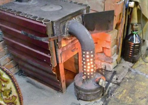 Печь на отработанном масле: мини печка на отработке с наддувом своими руками, масляная печка, как сделать