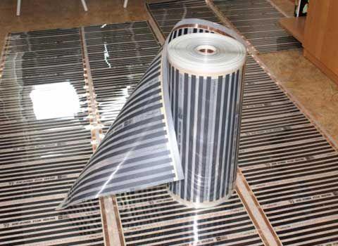 Пленочный теплый пол под ламинат: выбор термопленки, монтаж
