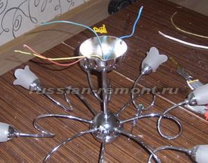 Подключение люстры. Как правильно повесить и подключить потолочную люстру