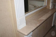 Подоконники из мрамора - благородный элемент интерьера