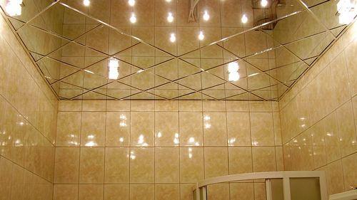 Подвесной потолок в ванной: фото установки своими руками
