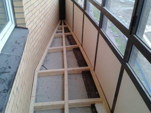 Пол на балконе из фанеры: лоджия из дсп руками