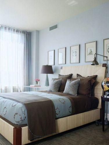 Преимущества и недостатки спальни в голубых тонах (  1 видео)