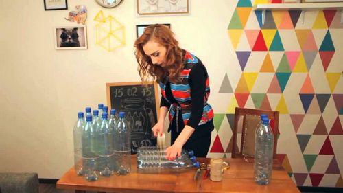 Пуфик из пластиковых бутылок делаем своими руками пошагово