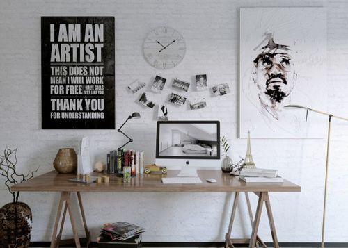 Рабочие пространства: креативные и вдохновляющие