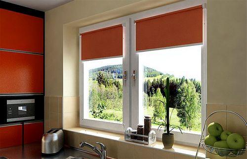 Рулонные шторы на пластиковые окна, фото в интерьере