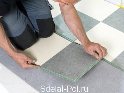 Самоклеющаяся виниловая плитка для пола: инструкция по монтажу самоклеющейся ПВХ плитки
