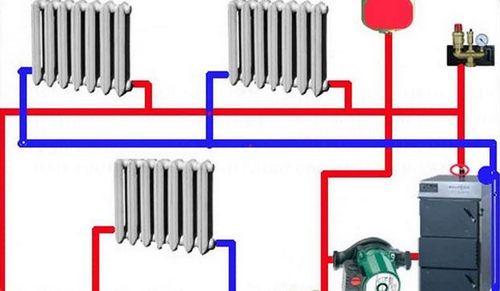 Схема отопления частного дома: простая типовая схема на примере твердотопливного и газового котла, детали на фото и видео