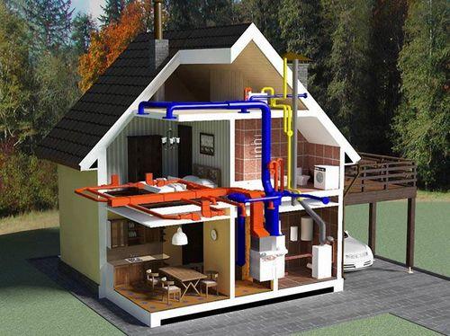Схема разводки отопления двухэтажного дома - выбор способа разводки на примерах фото и видео
