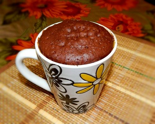 Шоколадный кекс в микроволновке: классический рецепт