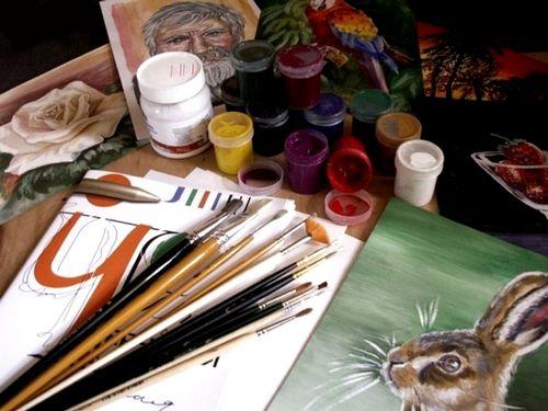 Стильные картины своими руками для украшения интерьера