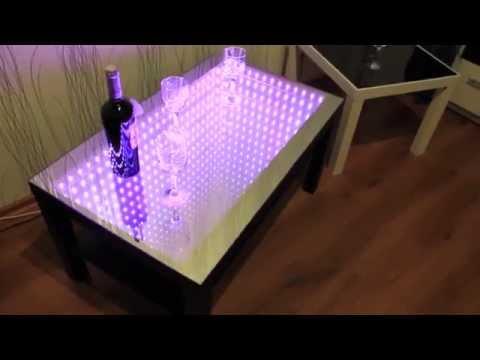 Стол с эффектом бесконечности: фото, видео изготовления