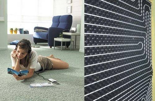 Теплый пол под ковер: как сделать подогрев пола под ковролин?