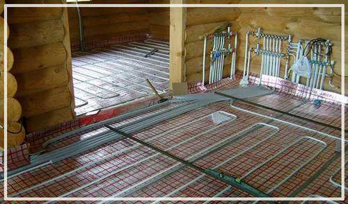 Теплый пол в бане: как сделать электрический пол и схема под плитку