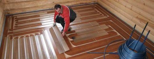 Теплый пол в деревянном доме - особенности монтажной технологии
