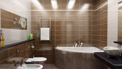 Угловая ванна: фото дизайна интерьера