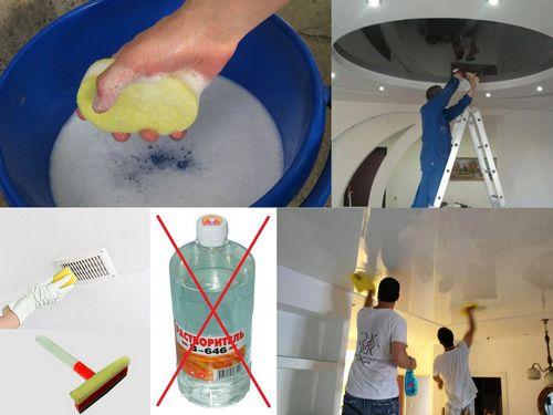 Уход за тканевыми натяжными потолками: как отмыть после ремонта, почистить и убрать пятна