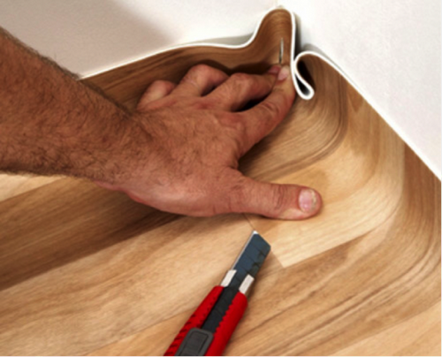 Укладка линолеума своими руками - клеевой и бесклеевой способ