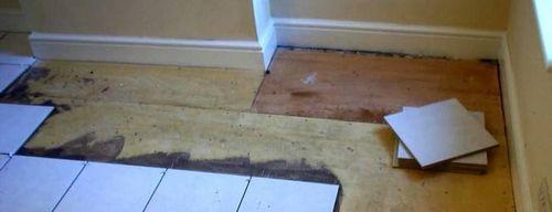 Укладка плитки на деревянный пол - поэтапная инструкция