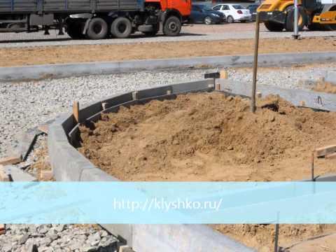 Установка бордюрного камня на даче: фото, видео
