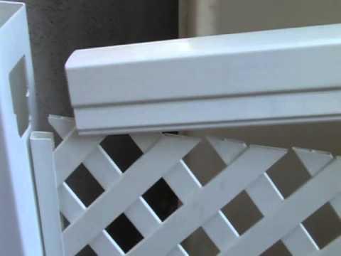 Установка пластикового забора из ПВХ: фото, видео инструкция