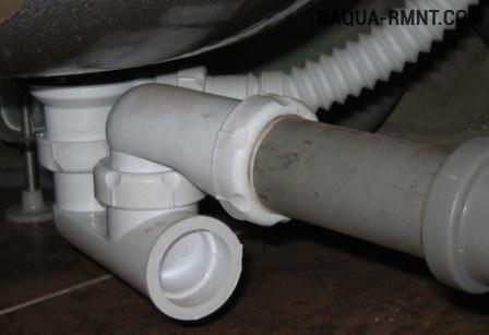 Устройство и подключение сифона (слива) для душевой кабины