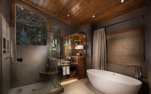 Ванная комната в деревянном доме: фото и идеи оформления