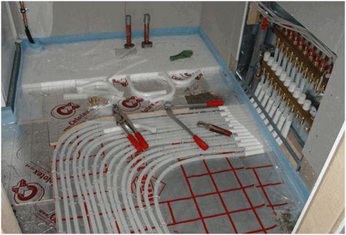 Водяной теплый пол – технология укладки и схема подключения