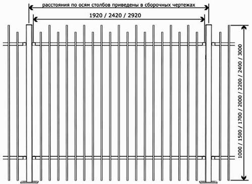 Забор из профильной трубы: чертежи, сооружение