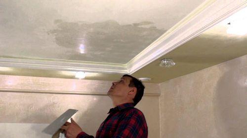 Жидкие обои на потолок: отделка, фото и ремонт своими руками в спальне и кухне